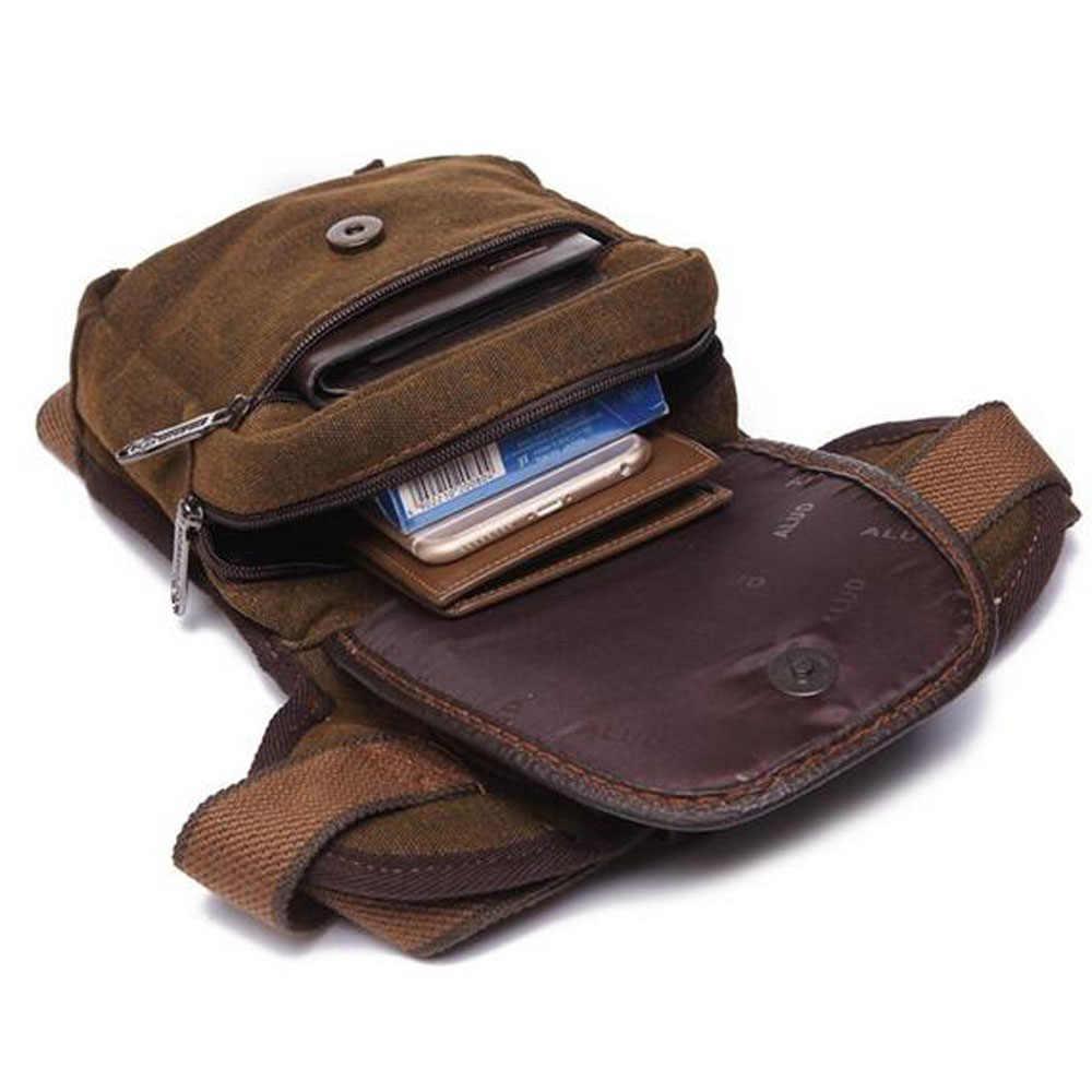 Riñonera para hombre de alta calidad, riñonera de lona/nailon, viaje militar, bandolera pequeño, bolso de cintura para motocicleta