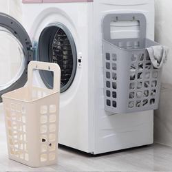 Hollow plastikowy kosz na pranie organizator z przyssawkami kosz na brudne ubrania dla dzieci pojemnik na zabawki pojemnik Organizer do domu