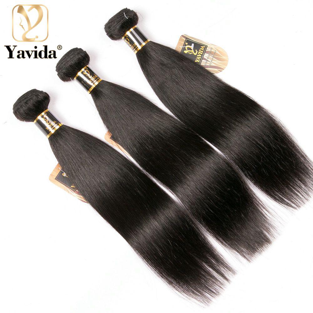 Yavida 8A бразильские шелковистые прямые человеческие волосы пряди волос Плетение 8-28 дюймов Необработанные человеческих волос Cheveux Humains