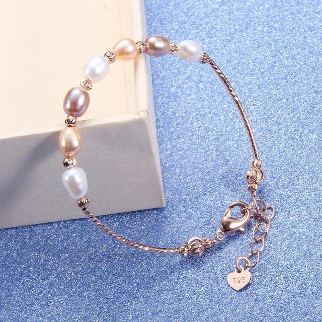 CoeufuedyG Pearl Bracelet fashion Multi Color Bracelet For Women Gift Adjustable charm Bangles Jewelry