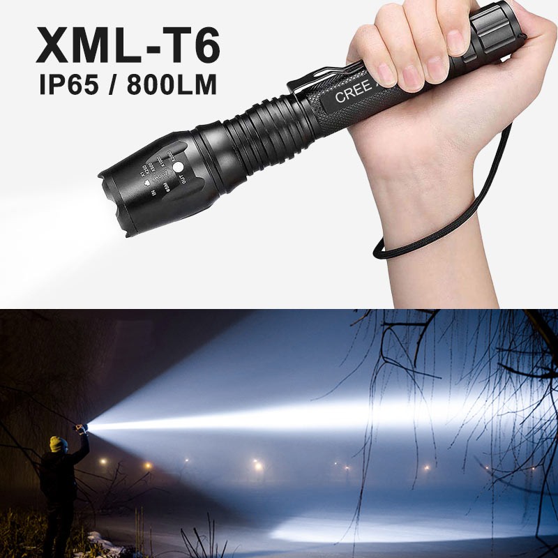 Rechargeable Flashlight Outdoor Camping Tactical Flashlight Torch Battery Waterproof Pocket Flashlight Powerful LED Flashlight