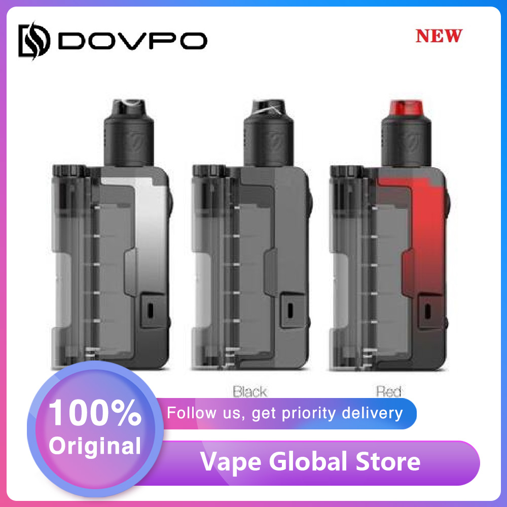 New Original Dovpo Topside Lite 90W Squonk TC Kit With Variant RDA E-cig Box Mod Kit Fit 21700/20700/18650 Battery Vs Drag 2/Gen