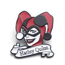 Suicide Squad Harley Quinn Zinc alloy tie pins badges para shirt bag clothes cap backpack shoes brooches for men or women E0357