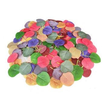 50 Uds verde artificial deja seco Real Natural y extracto de hoja de eucalipto hojas secas decoración para fiesta de boda Spplies