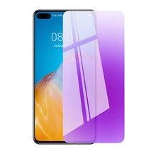 цена на Huawei P40 lite Glass For Huawei P30 P20 lite 2019 Tempered Glass Screen Protector P40lite P30lite Anti Blue Full Cover