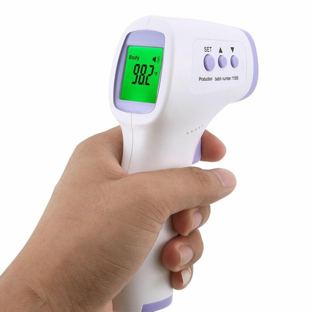 Sem contato infravermelho testa termômetro handheld temperatura corporal alta medição tricolor backlight