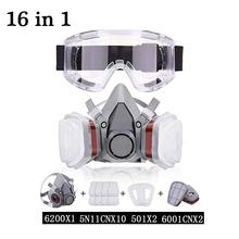 6200gas mask Reusable Half-Face Mask With Safety Glasses, Paint Mask, Machine Polishing, Welding And Other Work Protection Masks