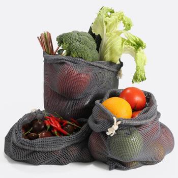 9pcs Reusable Produce Bags Cotton Mesh Produce Shopping Bag Set Organic Eco Friendly Washable Storage Bags for Fruit Vegetables 4