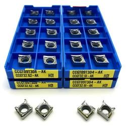 CCGT09T308 AK H01 Lathe tool aluminum turning tool CNC tool CCGT 09T308 Internal Turning Tool insert Copper aluminum tools
