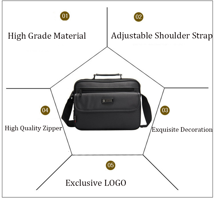 H491bf8e24e33416d8c17f6b13a211342C - New Briefcases Of Sizes Men's Laptop Bag Top Quality Waterproof Men bags Business Package Shoulder Bag masculina briefcase
