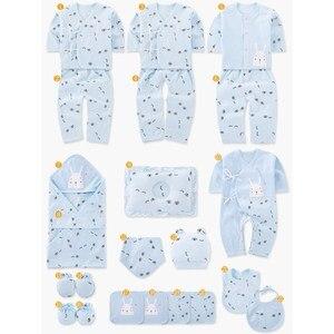 Image 5 - Ensemble de vêtements pour nouveau né, 19 pièces, en coton, vêtements pour bébés, filles et garçons, pour le printemps et lautomne