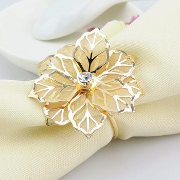 6 חבקי מפיות בעיצוב פרח יוקרתי 1