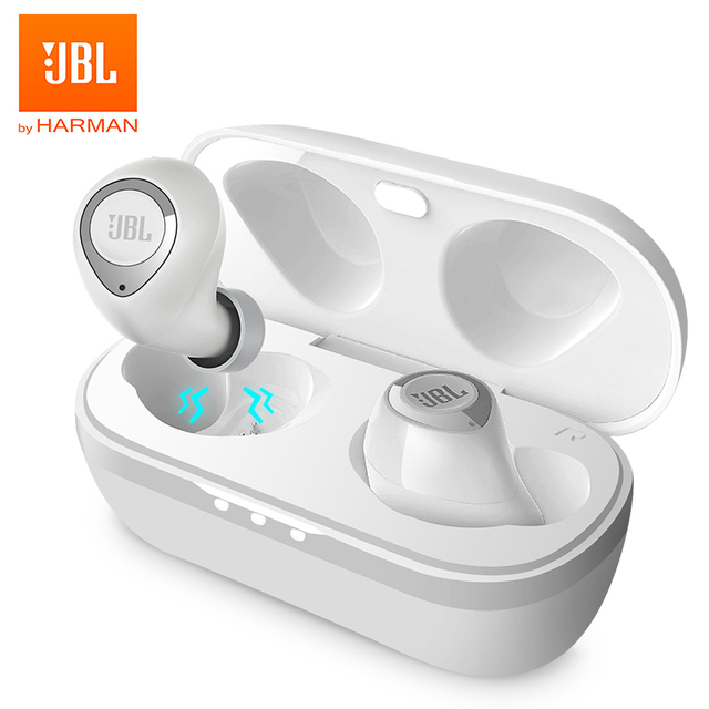 JBL C100TWS True Wireless Earphones Bluetooth 5.0 Stereo Earbuds Pure Bass Sound Gaming Sport Headset with Mic Charging Case Electronics Wireless Earphones