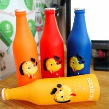 Новые игрушки для собак силиконовая бутылка пива рисунок собаки