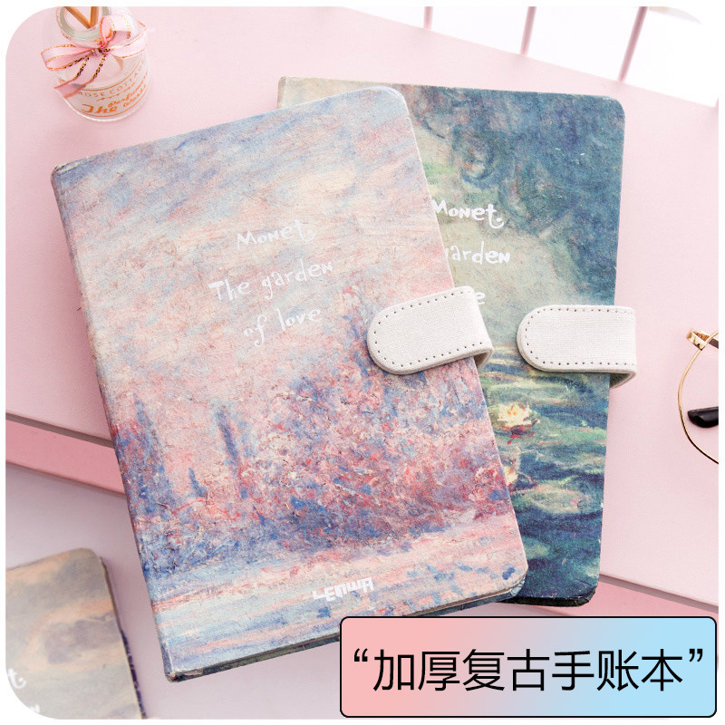 2020 Korean Kawaii Vintage Flower Notebook Journal Diary Weekly Planner Organizer Paper Notepad  A5 Agendas Four Inner Pages