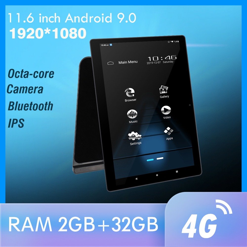 11 Inch Android Car Headrest Monitor 1920*1080 IPS Screen GPS 4G WIFI/Bluetooth/USB/SD/FM/Camera MP5 Video Player Free Battery