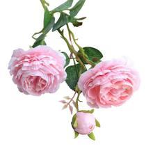 2020 Silk Artificial Western Rose Flower Peony Bridal Bouquet Wedding Classic European Style artificial fake western rose flower peony bridal bouquet wedding home decor western rose peony artificial flower