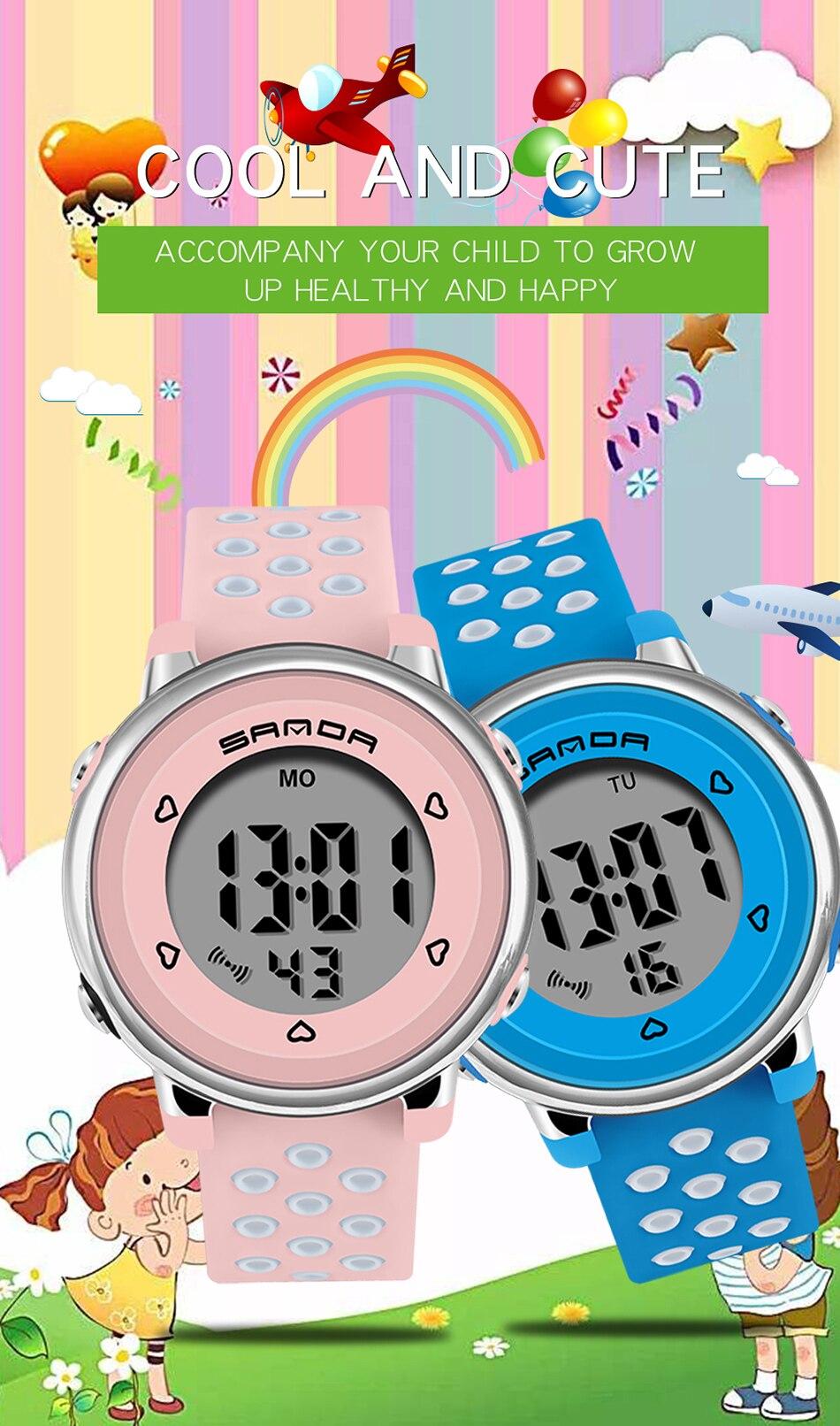 meninos meninas relógio presente criança led digital
