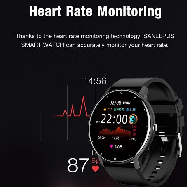 LIGE 2021 New Smart Watch Men Full Touch Screen Sport Fitness Watch IP67 Waterproof Bluetooth For Android ios smartwatch Men+box 2