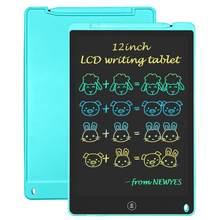 Dibujo de la tableta LCD de 12 pulgadas de escritura tableta electrónica de escritura a mano fina mensaje gráficos tablero de dibujo regalo Arco Iris pantalla