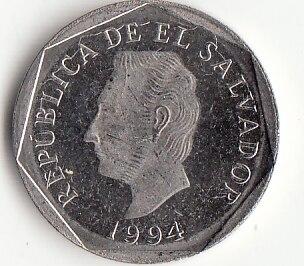 El Salvador 5 Centimes 1994 Edition America Coins Original Rare Coin Commemorative Edition 100% Real