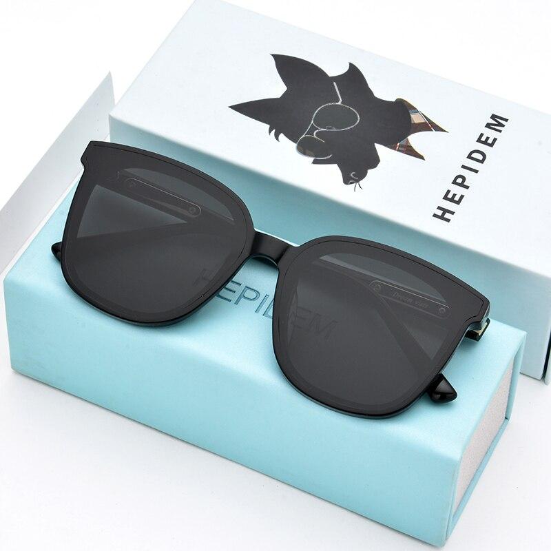 HEPIDEM винтажные нежные солнцезащитные очки для мужчин с плоскими линзами большие квадратные солнцезащитные очки в оправе для женщин фирменн