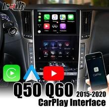 Drahtlose CarPlay Interface für Infiniti Q50 Q60 2015,5 2020 mit Android auto , youtue , wifi , videos eingang durch Lsailt