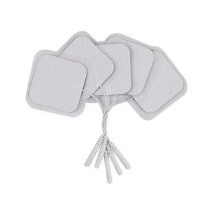 Image 1 - 50/100Pcs TENS Electrode Pad Self Adhesive นวด Patch สำหรับเครื่องกระตุ้นกล้ามเนื้อ PULSE การฝังเข็มกายภาพบำบัดนวด 2 มม.ปลั๊ก