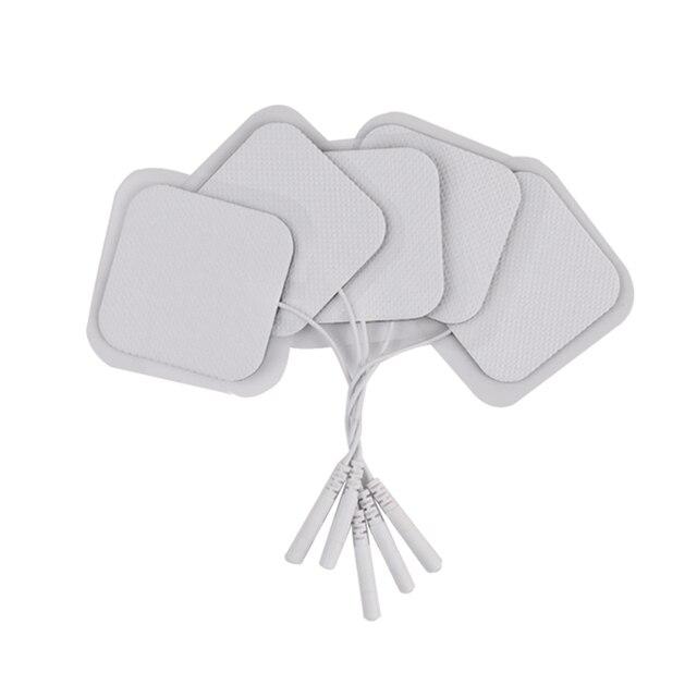 50/100Pcs TENS Electrode Pad Self Adhesive นวด Patch สำหรับเครื่องกระตุ้นกล้ามเนื้อ PULSE การฝังเข็มกายภาพบำบัดนวด 2 มม.ปลั๊ก