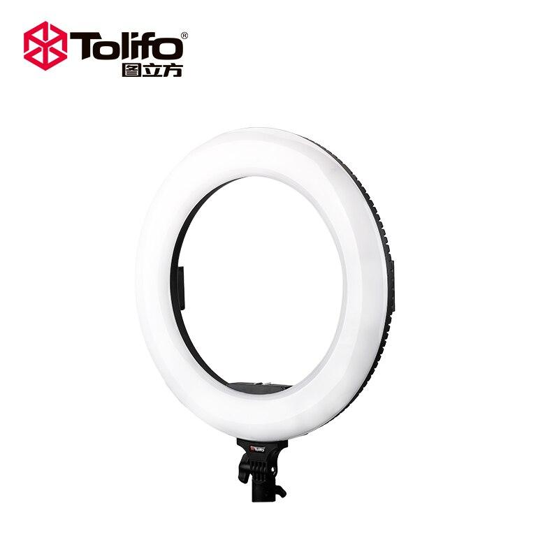 Tolifo R-60B 18 ''Selfie anneau lumière Dimmable bicolore 624 LEDs Ultra lumineux 60W maquillage caméra téléphone photographie vidéo éclairage