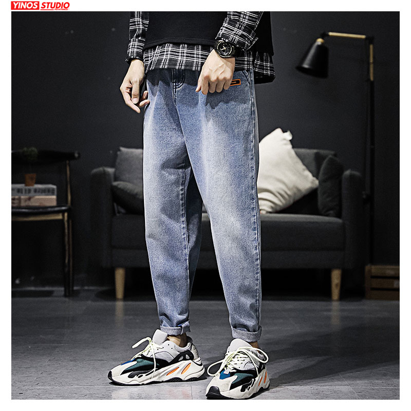 Dropshipping 2020 Spring Vintage Toursers Mens Pants Male Distressed Jeans Mens Streetwear Cargo Pocket Denmin Pants
