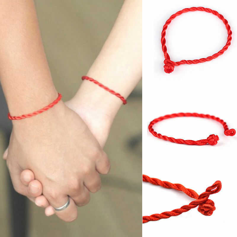 10 Pcs Hand Braided Chinese Red Style Lucky String Rope Cord Bracelet Simple