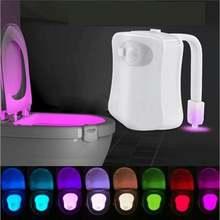 Модные светодиодный wc Туалет огни smart движения pir Сенсор
