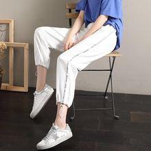 Женские шаровары для бега летние спортивные свободные штаны