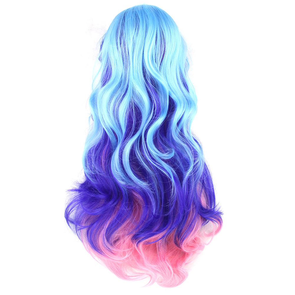 White Cosplay colour blended Wig Fancy Dress Accessory Blue