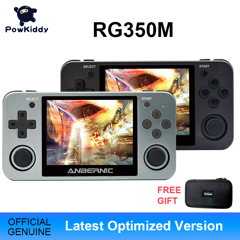Powkiddy RG350 Handheld Game Console RG350M Metal Shell Console Open Source System 3 5 Inch IPS Screen Retro Ps1 Arcade 3D Games