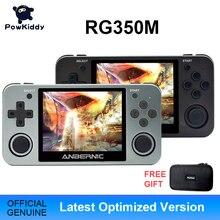 Powkiddy RG350 휴대용 게임 콘솔 RG350M 금속 쉘 콘솔 오픈 소스 시스템 3.5 인치 IPS 스크린 레트로 Ps1 아케이드 3D 게임