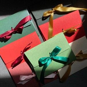 Image 1 - 40 sztuk/partia nowy jedwab wstążka DIY festiwal prezent koperta list papiery Butterfly knot zaproszenie na ślub list szalik, maska pakowania