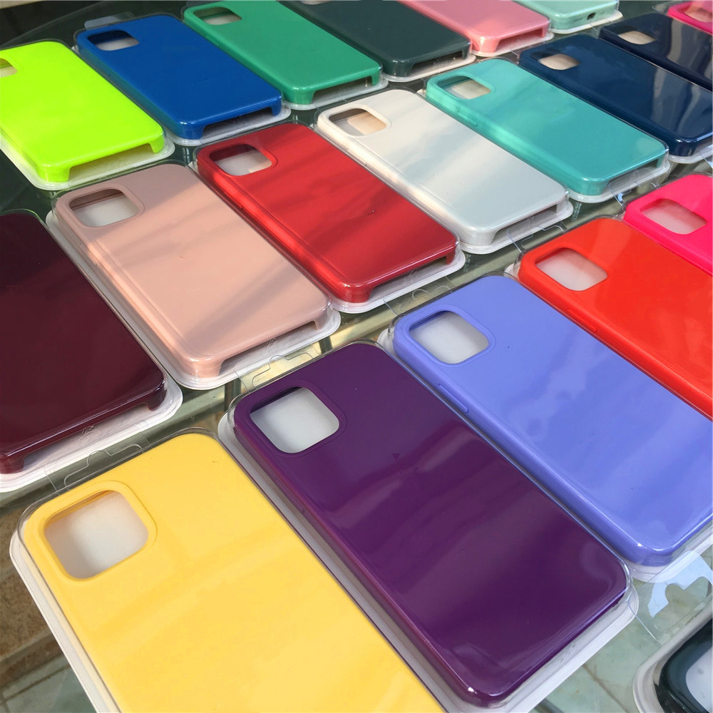 Original Silicone Case For iphone 12 Mini 6 6S 7 8 Plus SE 2020 12 Pro X XR XS MAX phone Case for Apple iPhone 11 12 Case Cover