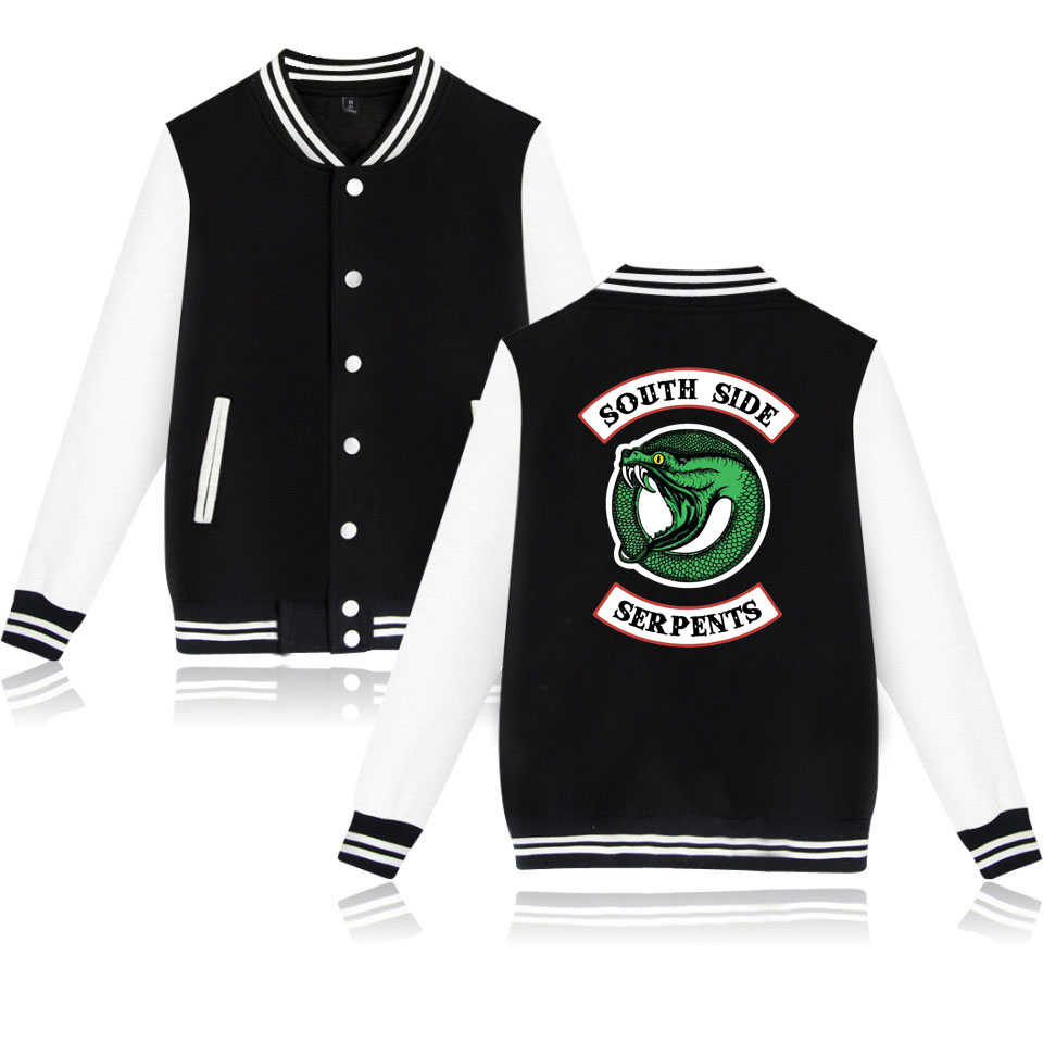 Riverdale SouthSide Baseball Jacke Männer Frauen Hip Hop South Side Serpents Sweatshirt Hoody Jacke und mantel streetwear kleidung