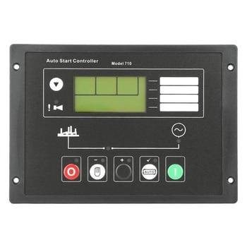 Generator Control Module Controller, DSE710 Generator Auto Start Control Panel for Deep Sea Electronics Spare Parts, Auto Manual
