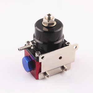 Image 5 - aluminum Fuel Pressure Regulator black and red style AN6 port quality assurance