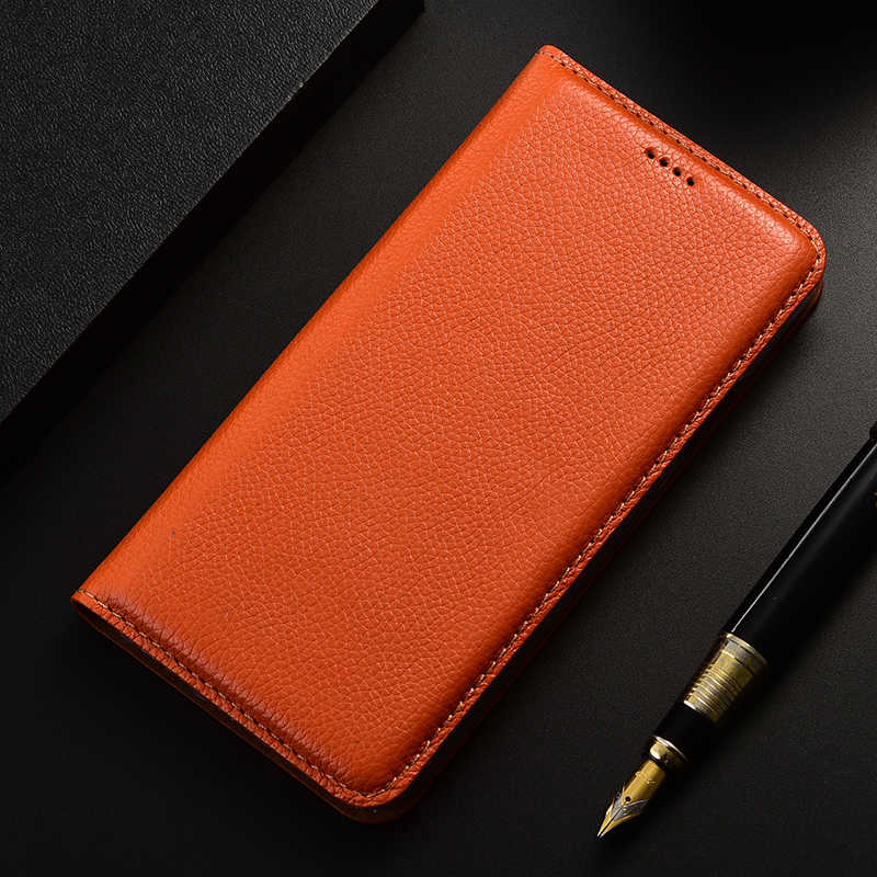 Pour UMIDIGI One Pro housse un Max couverture arrière Litchi véritable Flip cuir housses pour UMIDIGI F1 étui portefeuille