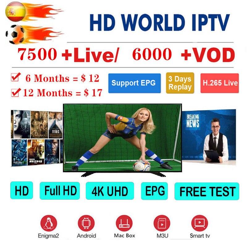 7500+ Channels 1 Year Europe M3u IPTV Portugal Spain Germany Dutch Albania EX-YU Itpv Server For IPTV Smart TV Box Android IOS