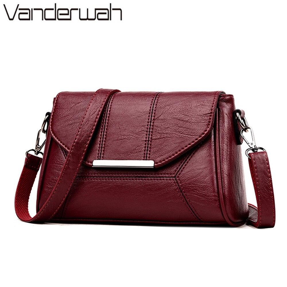 2019 High Quality Leather Luxury Handbags Women Bags Designer Messenger Shoulder Crossbody Bags For Women Ladies Hand Bags Sac