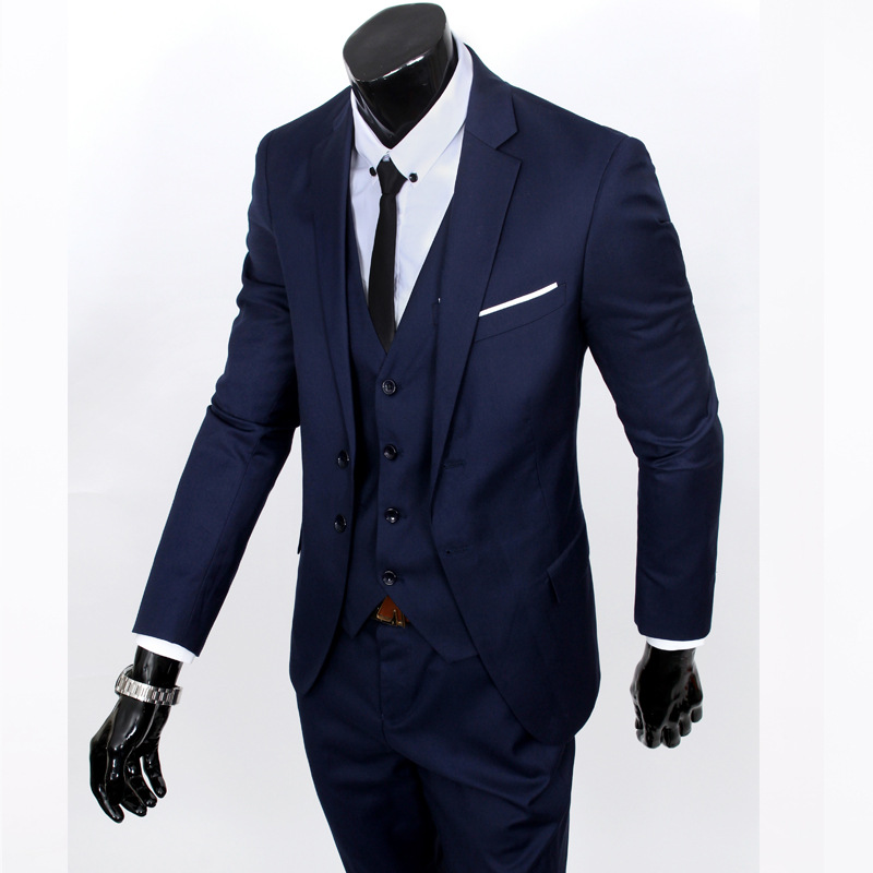 MEN'S Suit Three-piece Suit-Business Slim Fit Small Suit Men Casual Groom Marriage Formal Dress Business Formal Wear Fashion