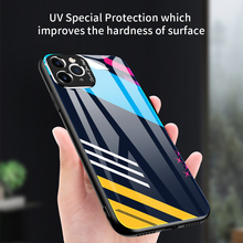 Gradient Painted Case For iPhone 11 Pro Max Cases Luxury Tempered Glass Cover For iPhone X Xs Max XR 7 8 6 6s Plus 11 Pro Coque ciciber dragon ball phone case for iphone 11 pro max xr x xs max tempered glass cover cases for iphone 7 8 6 6s plus funda coque