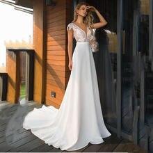 Женское атласное платье с открытой спиной v образным вырезом