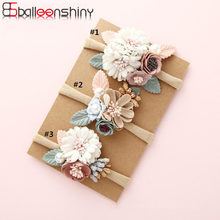BalleenShiny Infant Baby Headband Fashion Princess Hair Band Kids Girl Flower Hair Accessories Newborn Photography Props Turban(China)