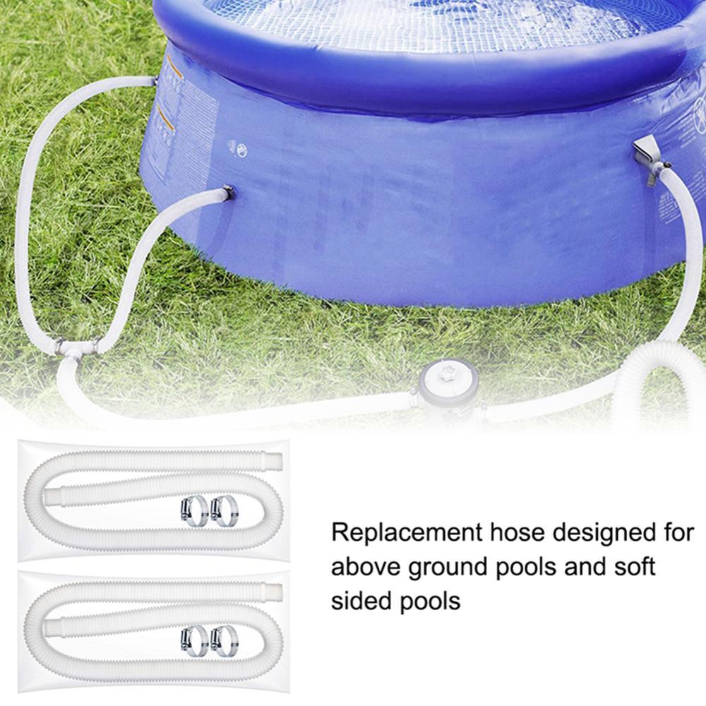 НОВИНКА замена шланг прочный мягкий фильтр насос шланг с 4 металл зажимы бассейн насос замена аксессуар